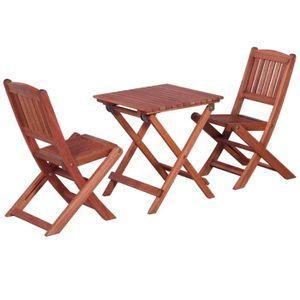 Ensemble table et chaise de jardin Salon de jardin Ensemble de bistro 3 pcs pour enfa