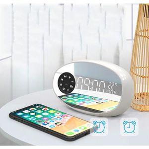 Radio réveil Radio-réveil Avec Haut-parleur Bluetooth,USB,Doubl