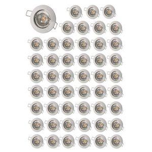 SPOTS - LIGNE DE SPOTS LOT DE 50 SPOT ENCASTRABLE FIXE LED 230V BLANC AVE
