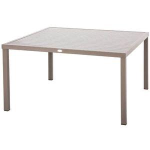 TABLE DE JARDIN  Table de jardin Hespéride carrée PIAZZA 8 places T