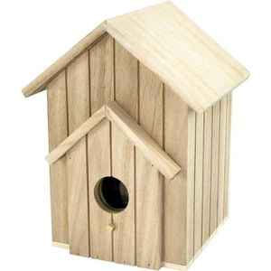 5 x vide en bois Craft Formes 42 mm-Cage à oiseaux