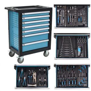DESSERTE CHANTIER Chariot à outils pour atelier avec 270 outils Acie