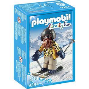 FIGURINE - PERSONNAGE PLAYMOBIL 9284 - Family Fun - Skieur Barbu