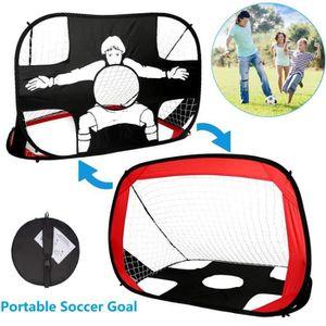 CAGE DE FOOTBALL 2 en 1 Pop Up Goal de Football des Enfants, Cible