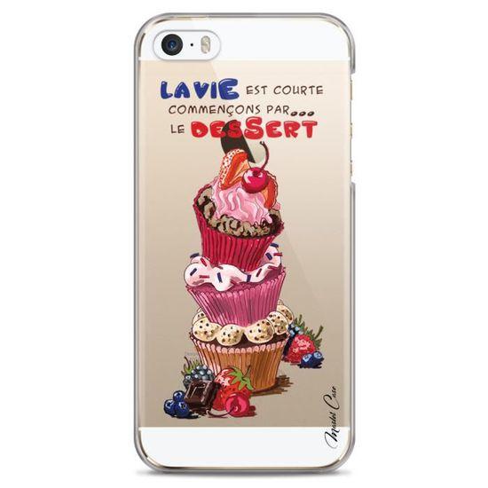 coque iphone 5c transparente motif designer dessi