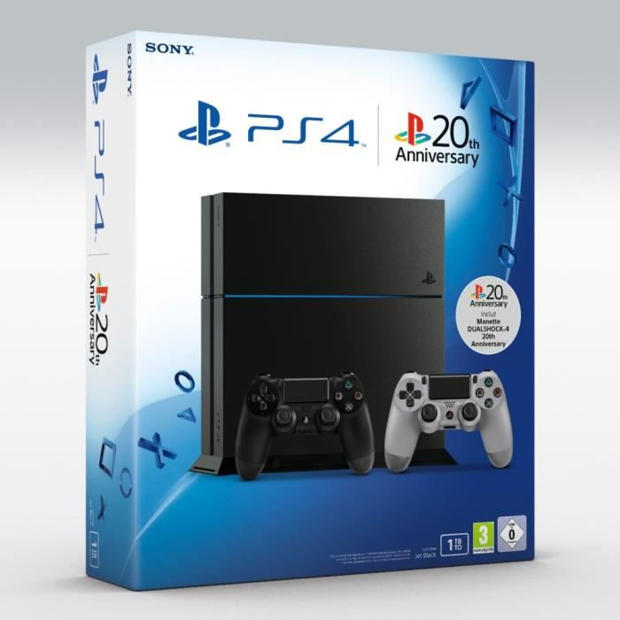 ps4 1 to noire 2 me manette 20 me anniversaire achat vente console ps4 nouveaut ps4 1. Black Bedroom Furniture Sets. Home Design Ideas
