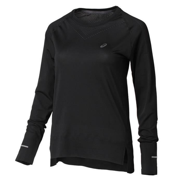 ASICS T-shirt de running Seamless - Femme - Noir