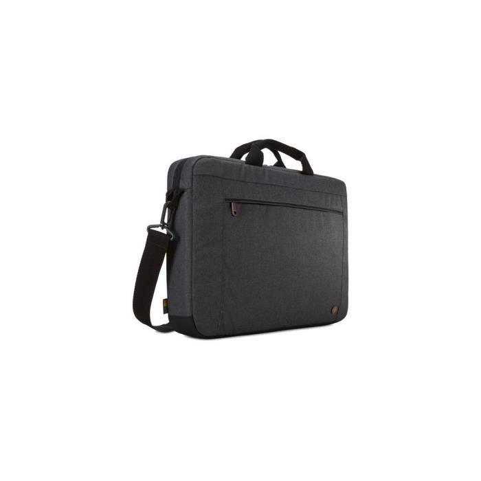 CASE LOGIC Sacoche de transport Era ERAA116 - Attaché Style pour Ordinateur Portable 40,6 cm (16-) - Noir Obsidienne - Polyester