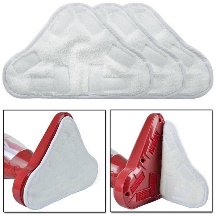 Lot de 3 lingettes microfibres lavables pour balai vapeur H2O 5 en 1