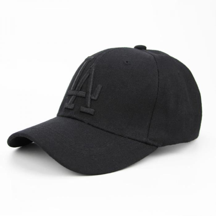 Casquettes de Baseballlettre Baseball LA Dodgers Broderie Hip Hop Hommes Réglable Gorras Unisexe-noir.noir