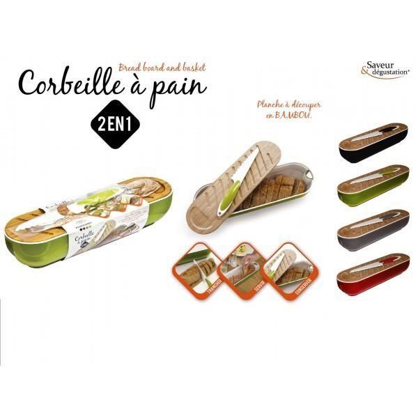CORBEILLE A PAIN 3EN1 NOIR