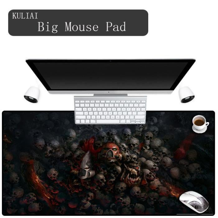 XGZ Warhammer 40k précision couture caoutchouc antidérapant tapis de souris jeu ordinateur port - Modèle: 400X800X2MM - SZSBDD02569