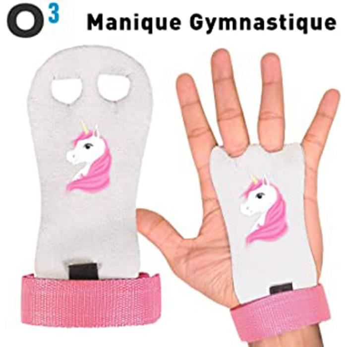 Manique Gym - Paire De Maniques De Gymnastique Pour Enfant - Parfait Pour La Gym Au Sol Et Les Agrès (Poutre, Barres,Cheval) - Protè