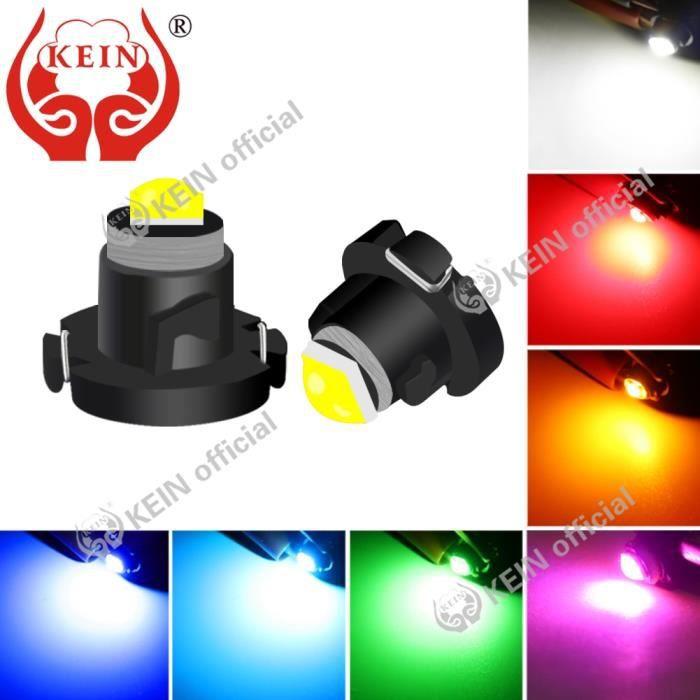 green T4.7 -KEIN – ampoule de tableau de bord T3 T4.2 T4.7, 10 pièces, Led, compteur de lumière de voiture, lampe de tableau de bord