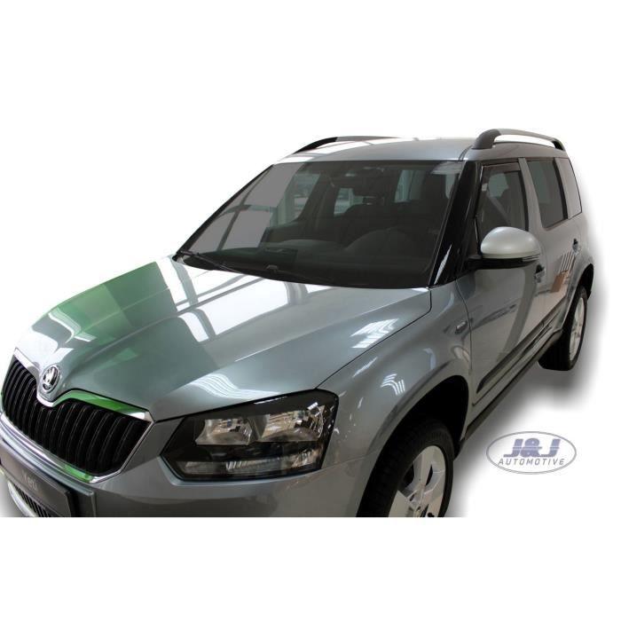 - Deflecteurs d'air Déflecteurs de vent Compatible avec SKODA YETI 5 portes 2009-prés 2pcs