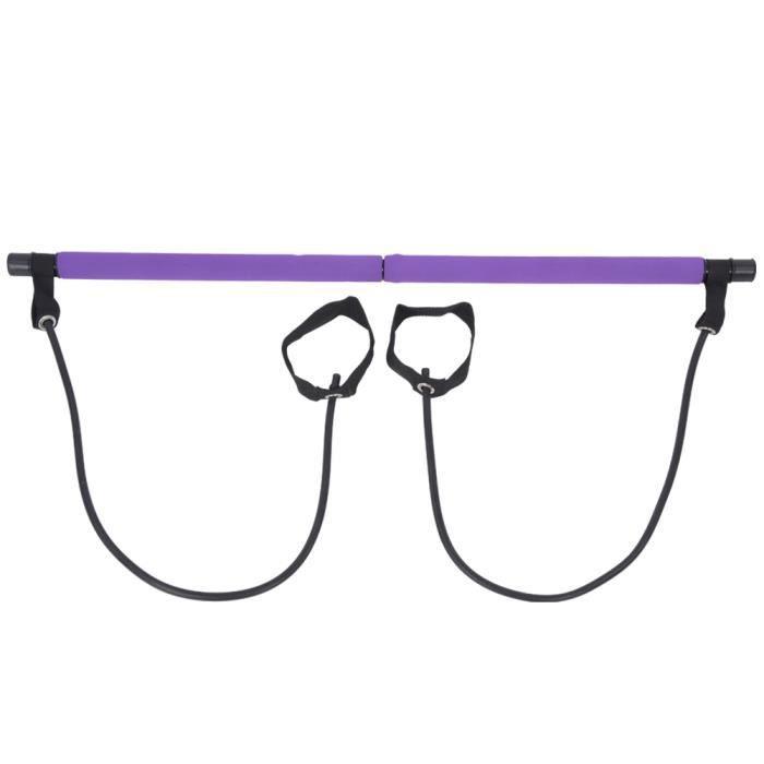 Bâton de Pilates de yoga portable multifonctionnel à la maison, bâton de Pilates violet, pour le bureau de yoga