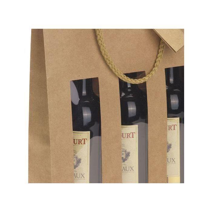 CLASSWINE Etui carton lanterne à fenêtre pour 4 bouteilles