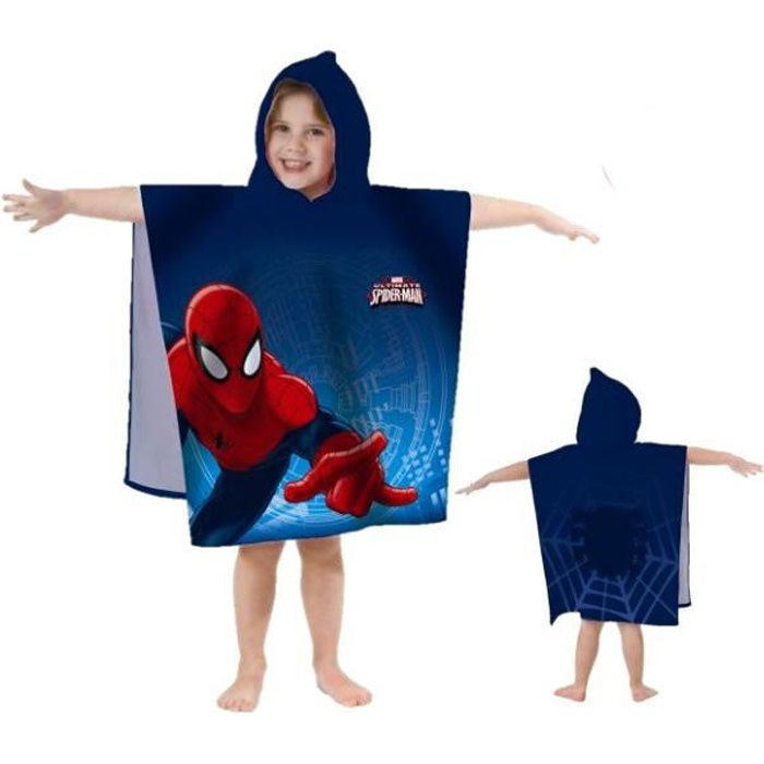 SPIDERMAN Cape de bain Coton 60x120cm