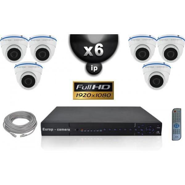 Kit Vidéo Surveillance PRO IP : 6x Caméras POE Dômes IR 20M SONY 1080P + Enregis