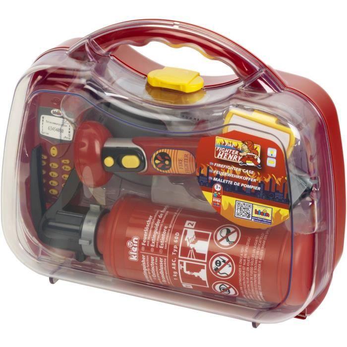 KLEIN - Mallette de pompier avec accessoires pour Enfant