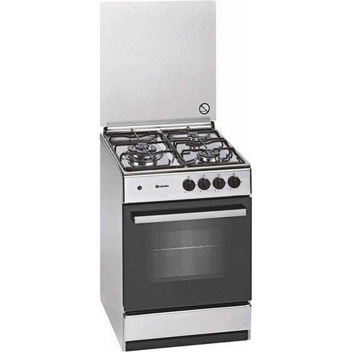 Meireles Cuisinière à Gaz G540 DV 55 cm Acier inoxydable (3 Feux à gaz) - 5604409146847