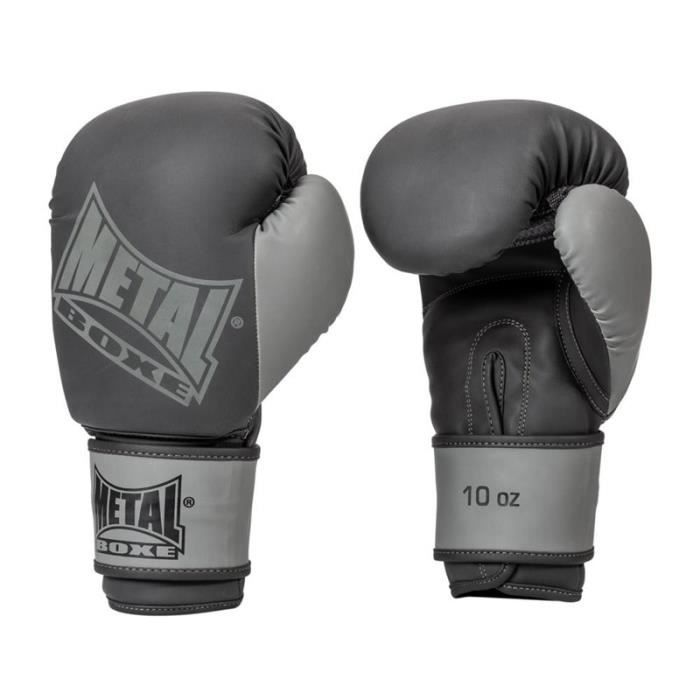 Gants de boxe MB204A Metal Boxe Noir - 12 oz