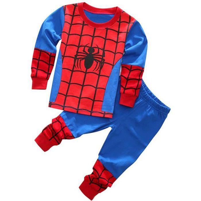 Diavolino ensemble de pyjama garcon Super-héro spiderman vêtement de nuit shirt à Manches Longues + Pantalon