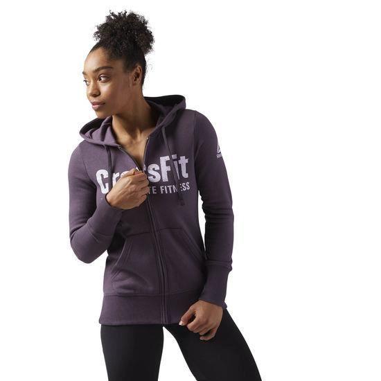 Reebok CrossFit CF5762, Sweat à capuche, Col roulé, Manches longues, m, Athlétique, Coton, Polyester