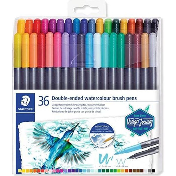 36 FEUTRES DOUBLE POINTE MARS GRAPHIC STAEDTLER