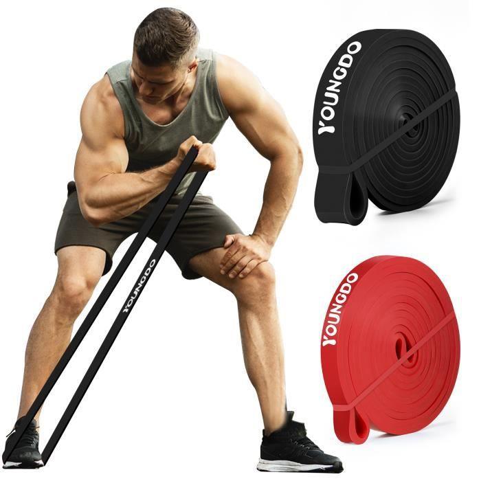 2*Bandes Elastiques de Sport Musculation Bande Élastique Fitness Résistance