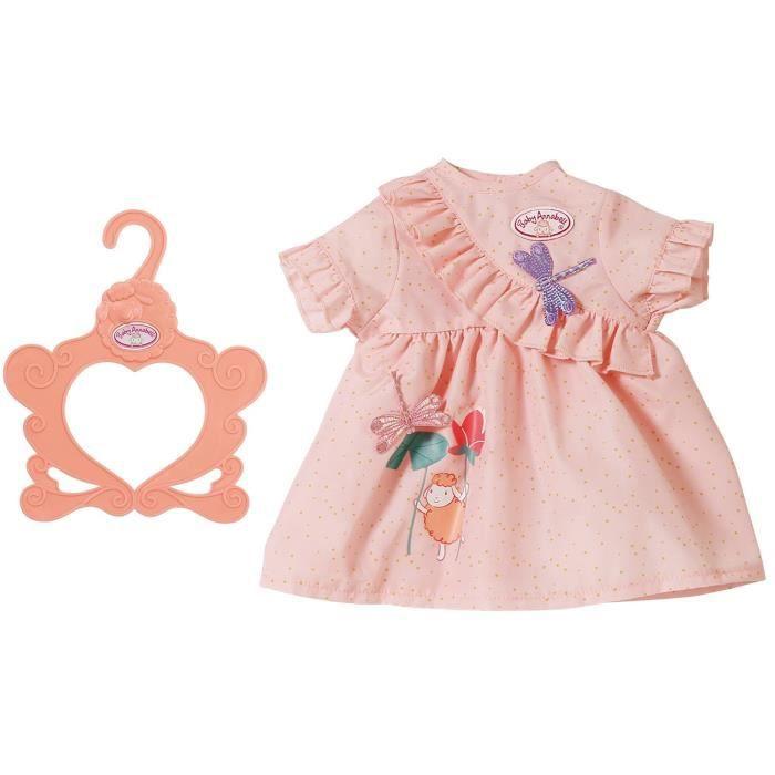 Accessoire pour poupée Zapf Creation 703083-B Baby Annabell Robe Libellule violette 43 cm