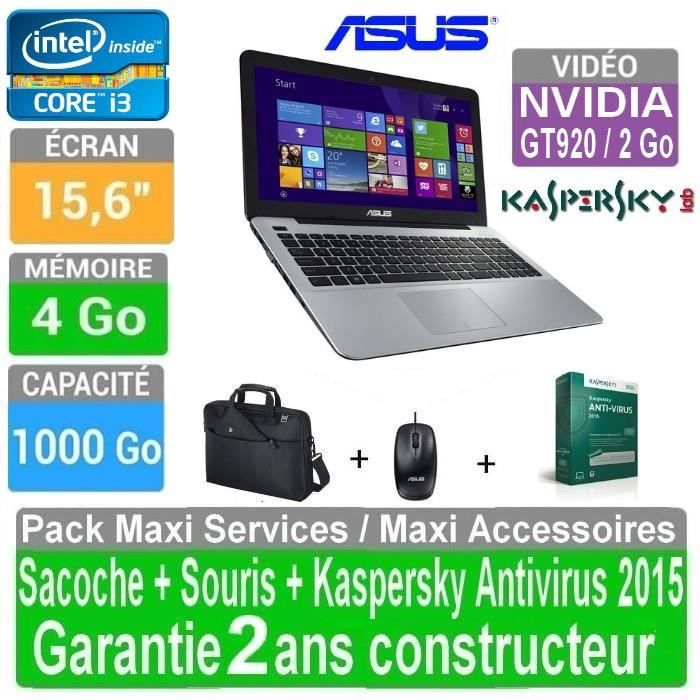 asus pc portable 15 6 core i3 nvidia gt920 4 go 1. Black Bedroom Furniture Sets. Home Design Ideas