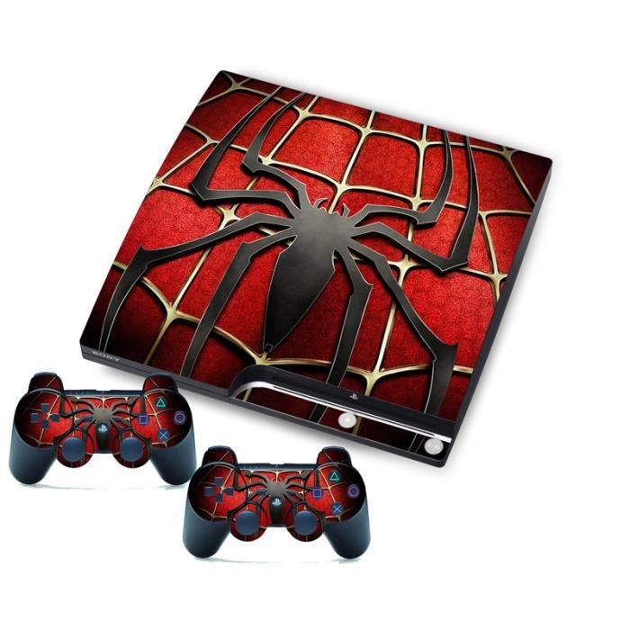 Film Autocollant Peau Pour Ps3 Slim Playstation 3 Slim Console Et Contrôleur Spider Prix Pas Cher Cdiscount