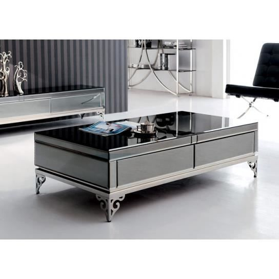 table basse miroirs et verre achat vente table basse. Black Bedroom Furniture Sets. Home Design Ideas