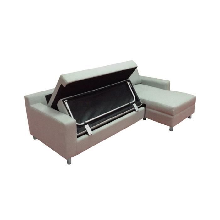 Canap d angle convertible gris clair pratic position for Canape convertible gris clair
