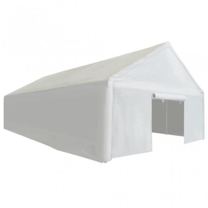 ABRI JARDIN - CHALET Tente de rangement en acier galvanisé et tissu bla
