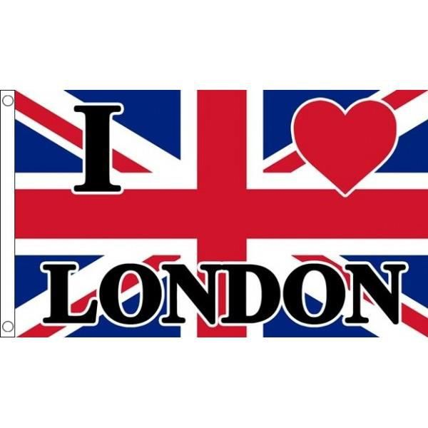 drapeau i love london 150x90cm - anglais - uk - u2026