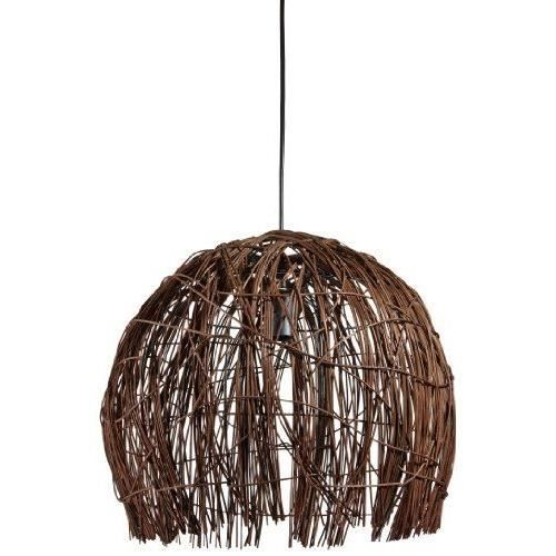 lustre suspension harar en rotin pour ampoule e27 max 60 w eco 11 w non incluse diam tre 37 cm. Black Bedroom Furniture Sets. Home Design Ideas