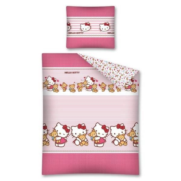 housse de couette hello kitty 140x200 achat vente. Black Bedroom Furniture Sets. Home Design Ideas
