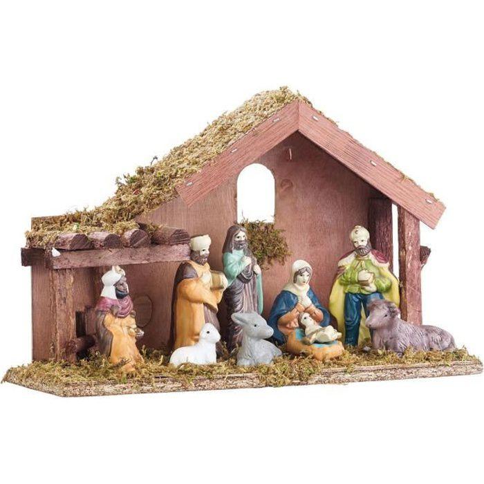 Multicolore H Feerie Christmas 8 Santons pour cr/èche de No/ël 20 cm