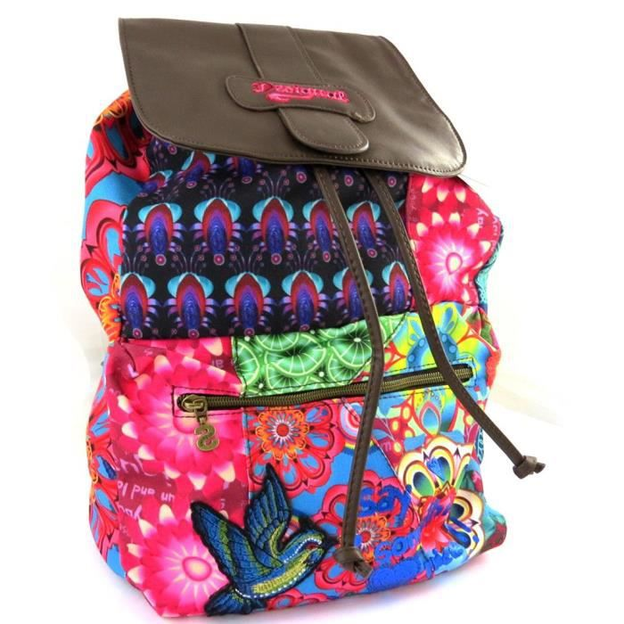 desigual m2484 sac cr ateur desigual marr achat vente sac dos 3609521324847. Black Bedroom Furniture Sets. Home Design Ideas