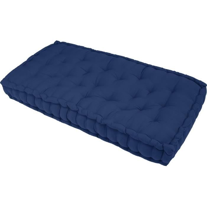 finlandek matelas de sol banquette j ms 100 coton bleu 60x120x15cm achat vente coussin. Black Bedroom Furniture Sets. Home Design Ideas