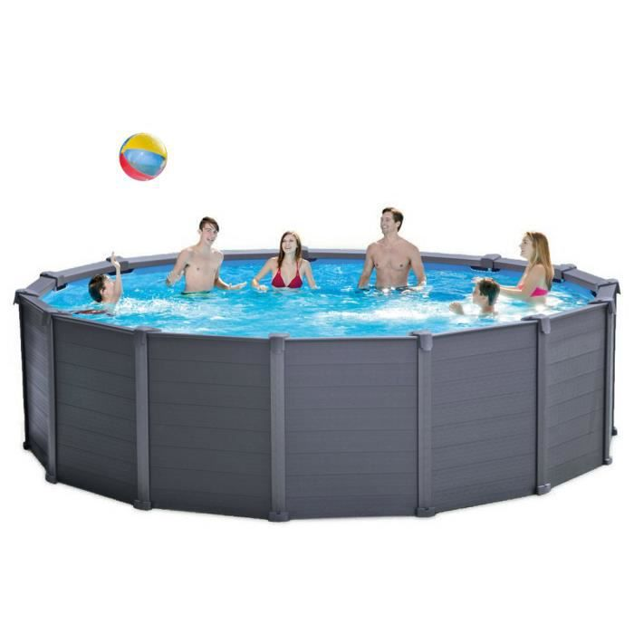 intex 28382 piscine hors sol graphite panel pool 478x124. Black Bedroom Furniture Sets. Home Design Ideas