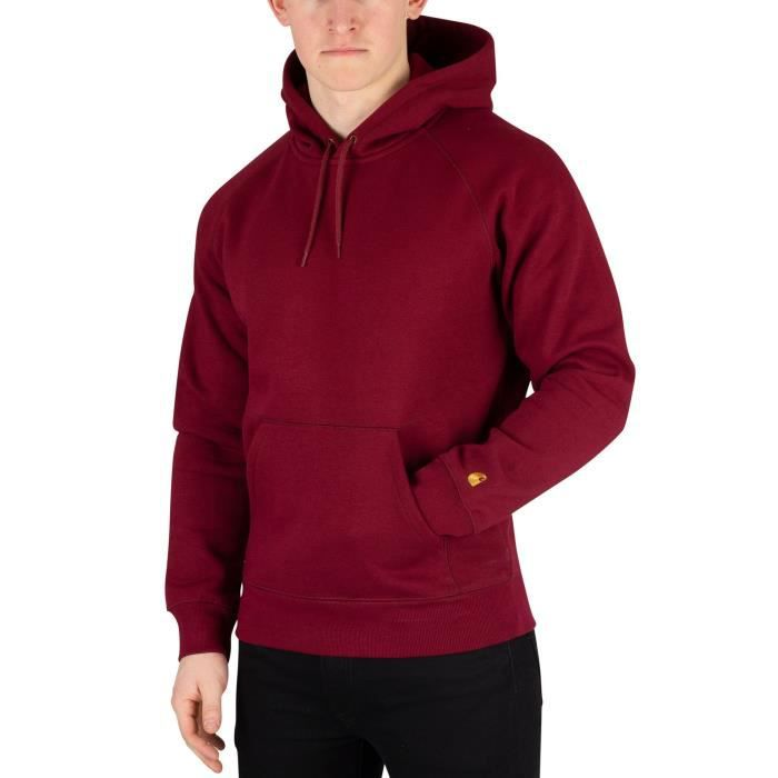 Carhartt WIP Homme Chase Pull à capuche, Rouge Rouge Achat