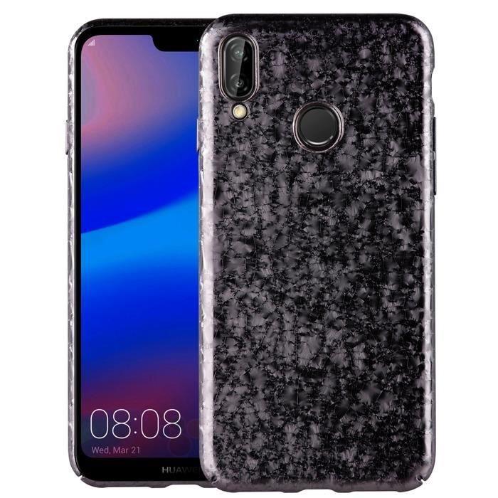 UNIQ Coque Topaz Noire pour Huawei P20 Lite