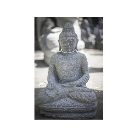 statue jardin exterieur bouddha assis pierre vo achat vente statue statuette cdiscount. Black Bedroom Furniture Sets. Home Design Ideas