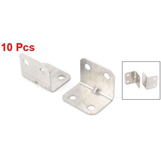 """4/"""" 10x 100 mm Plat Coin Angle Droit Plaque Support Brace Soutien Fixation Réparation"""