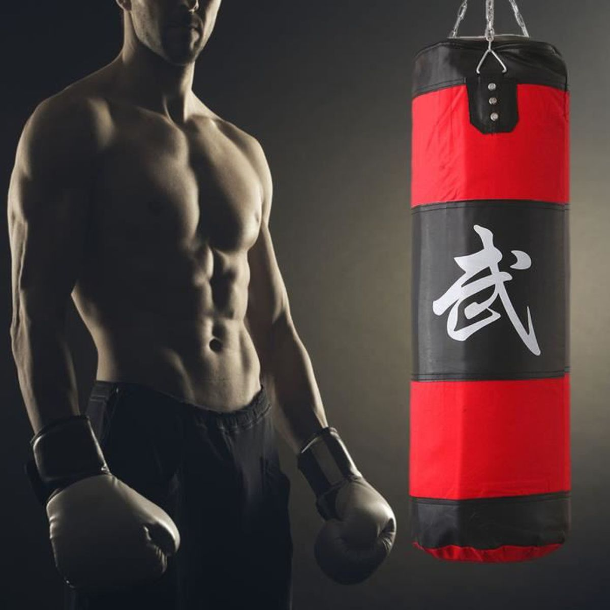 sac de frappe boxing sport fitness combat punching boxe gants crochet wrap prix pas cher. Black Bedroom Furniture Sets. Home Design Ideas