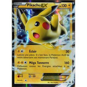 CARTE A COLLECTIONNER carte Pokémon XY174 Pikachu EX 130 PV Promo NEUF F