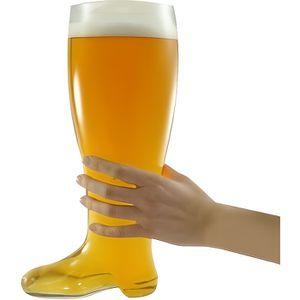 Verre à bière - Cidre Chope verre bière design botte XXL 800 mL shooter